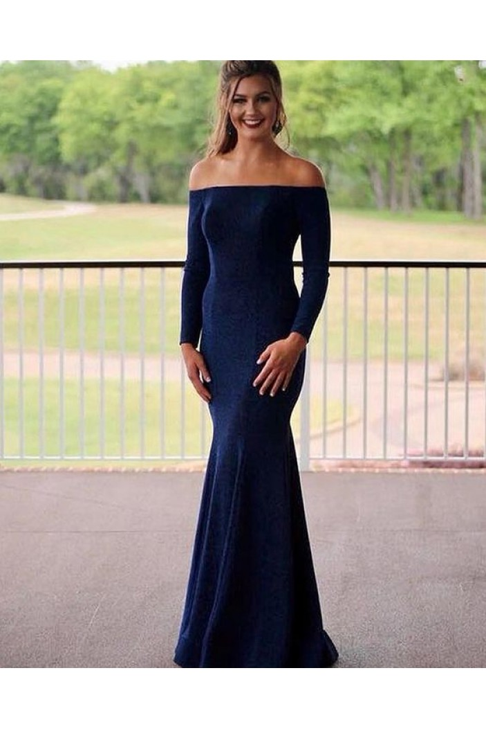 Mermaid Long Sleeves Prom Dresses Formal Evening Gowns 6011601