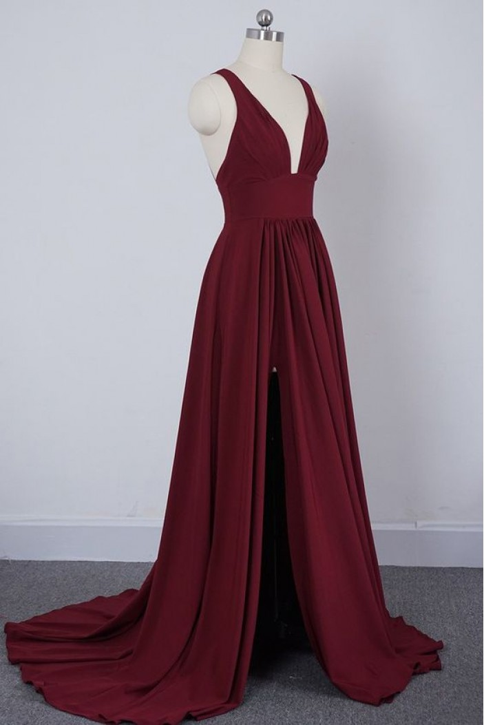 A-Line Simple Long Prom Dresses Formal Evening Gowns 6011603