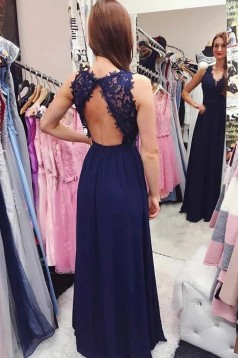 A-Line Beaded Lace Long Prom Dresses Formal Evening Gowns 6011619