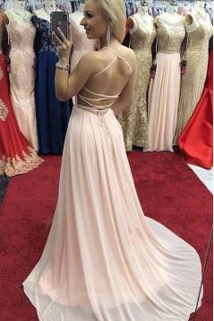 A-Line Chiffon Long Prom Dresses Formal Evening Gowns 6011632