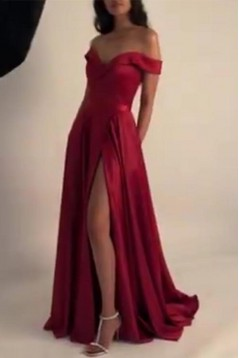 A-Line Off-the-Shoulder Long Prom Dresses Formal Evening Gowns 6011639