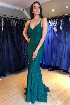 Mermaid Lace Long Prom Dresses Formal Evening Gowns 6011643