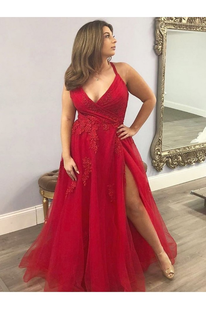 Long Lace Appliques Prom Dresses Formal Evening Gowns 6011655