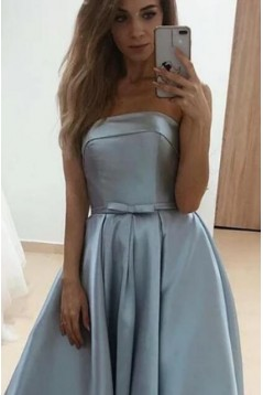 A-Line Strapless Long Prom Dresses Formal Evening Gowns 601837