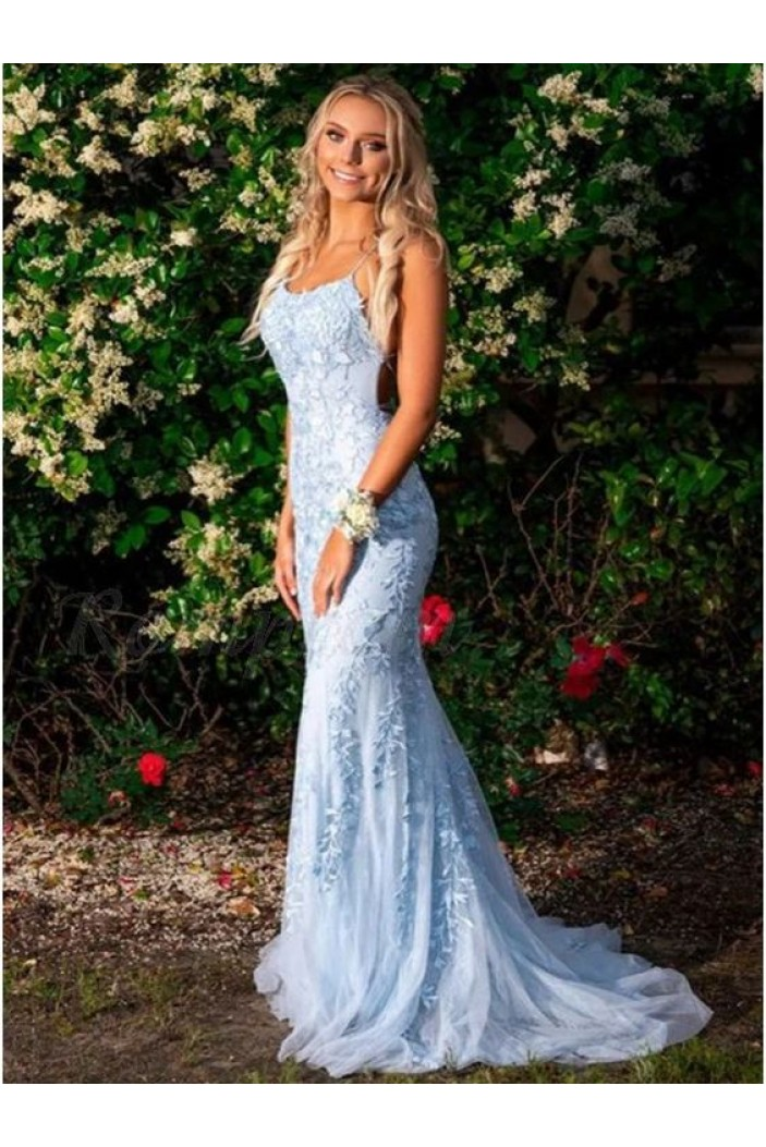 Elegant Mermaid Lace Long Prom Dresses Formal Evening Gowns 601896