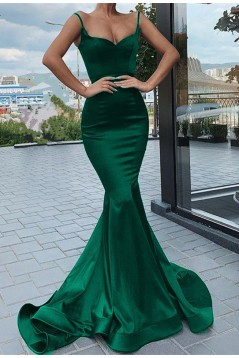 Mermaid Spaghetti Straps Long Prom Dresses Formal Evening Gowns 601900