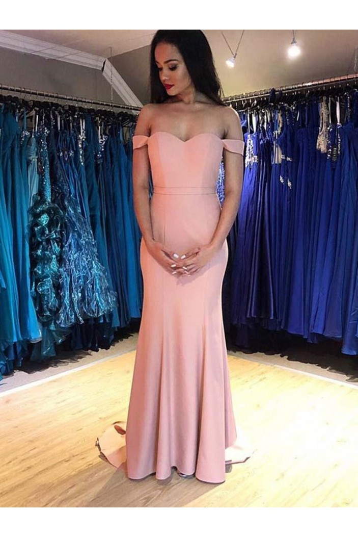 Mermaid Off-the-Shoulder Long Prom Dresses Formal Evening Gowns 601906