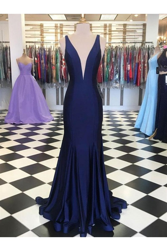 Memraid V-Neck Long Prom Dresses Formal Evening Gowns 601909