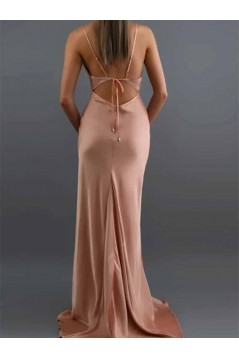 Mermaid Spaghetti Straps Long Prom Dresses Formal Evening Gowns 601912