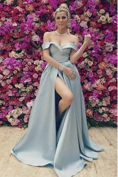 A-Line Off-the-Shoulder Long Prom Dresses Formal Evening Gowns 601917