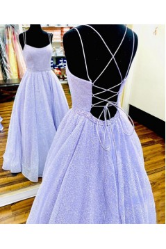 A-Line Spaghetti Straps Long Prom Dresses Formal Evening Gowns 601926