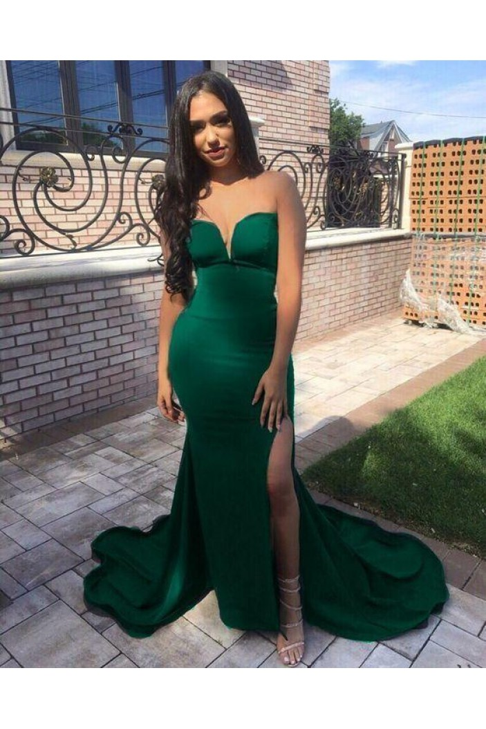 Mermaid Sweetheart Long Prom Dresses Formal Evening Gowns 601931