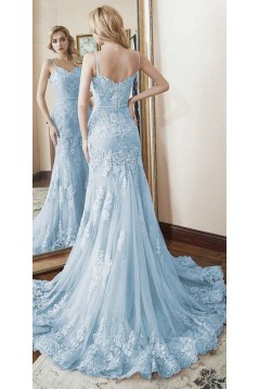 Mermaid Sweetheart Lace Long Prom Dresses Formal Evening Gowns 601950
