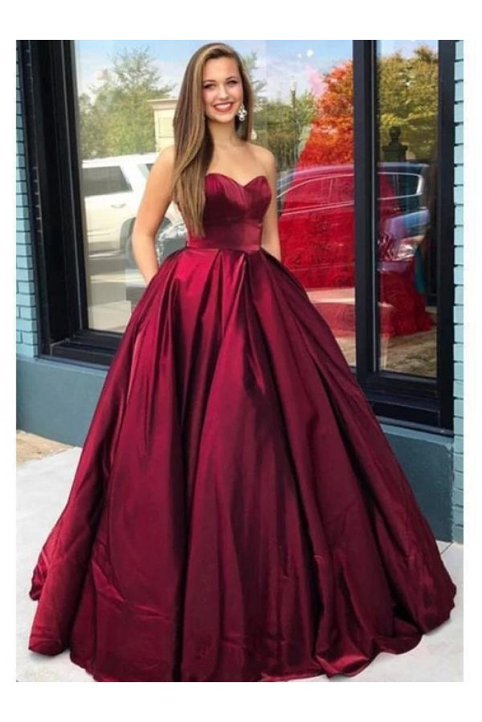 Ball Gown Sweetheart Long Prom Dresses Formal Evening Gowns 601951