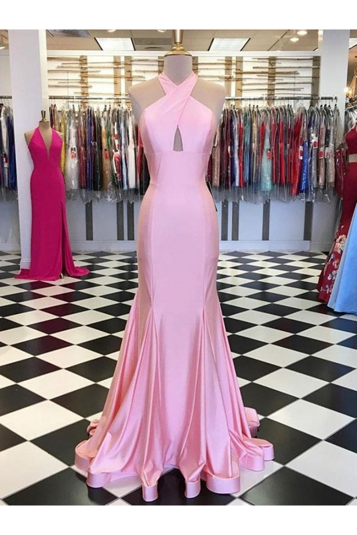 Mermaid Long Pink Prom Dresses Formal Evening Gowns 601958