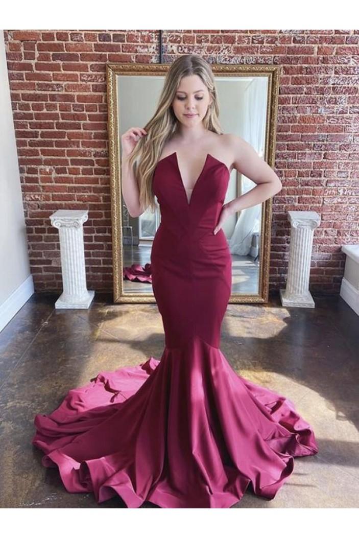 Elegant Mermaid Long Prom Dresses Formal Evening Gowns 601963