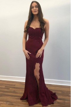 Mermaid Sweetheart Lace Long Prom Dresses Formal Evening Gowns 601981