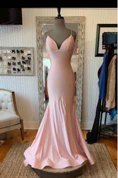 Mermaid V-Neck Long Prom Dresses Formal Evening Gowns 601982