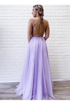 A-Line Lace Long Prom Dresses Formal Evening Gowns 601995