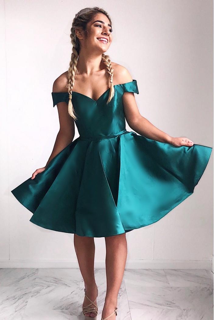 A-Line Short Prom Dress Homecoming Dresses Graduation Party Dresses 701024