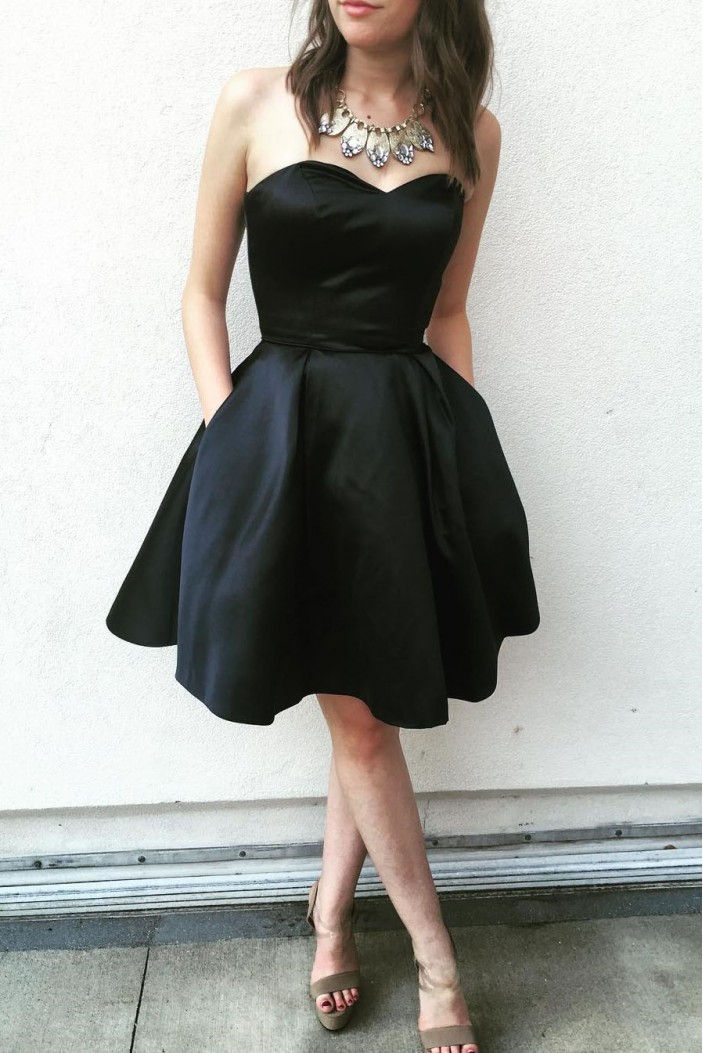 Short Black Prom Dress Homecoming Dresses Graduation Party Dresses 701032