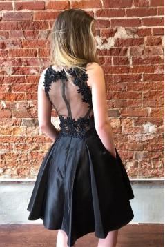 Short Black Prom Dress Homecoming Dresses Graduation Party Dresses 701037