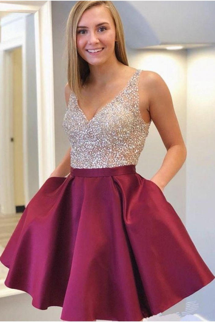 Short Beaded Prom Dress Homecoming Dresses Graduation Party Dresses 701041