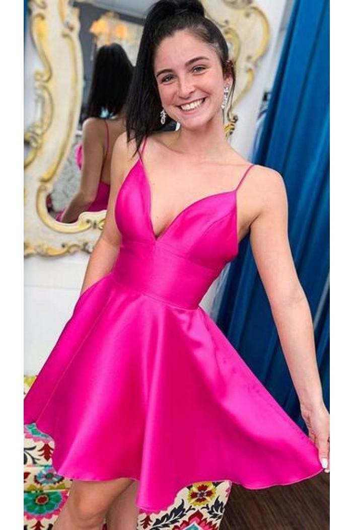 Short V-Neck Prom Dress Homecoming Dresses Graduation Party Dresses 701046
