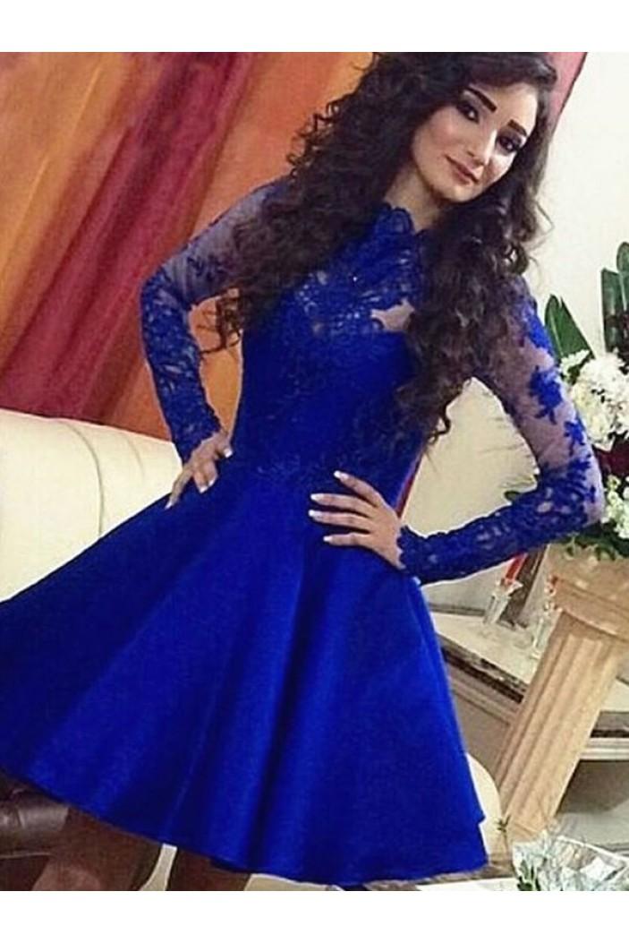 Short Prom Dress Long Sleeves Homecoming Dresses Graduation Party Dresses 701047