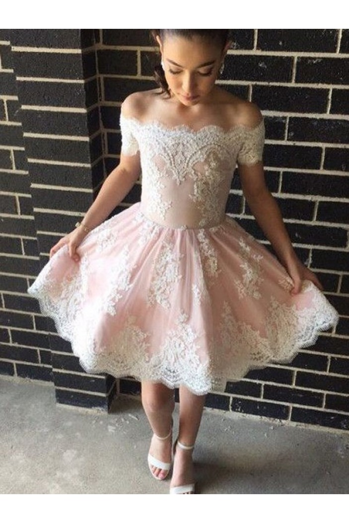 Short Lace Prom Dress Homecoming Dresses Graduation Party Dresses 701048