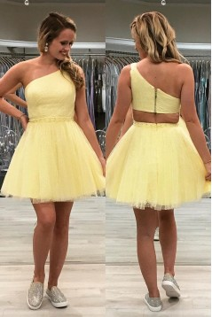 Short Sequins Tulle Prom Dress Homecoming Dresses Graduation Party Dresses 701051