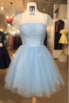 Short Pink Beaded Prom Dress Homecoming Dresses Graduation Party Dresses 701060