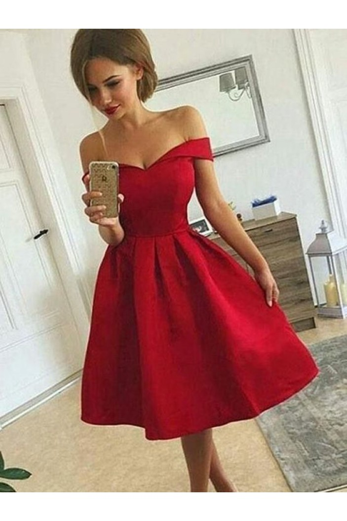 Short Red Prom Dress Homecoming Dresses Graduation Party Dresses 701080