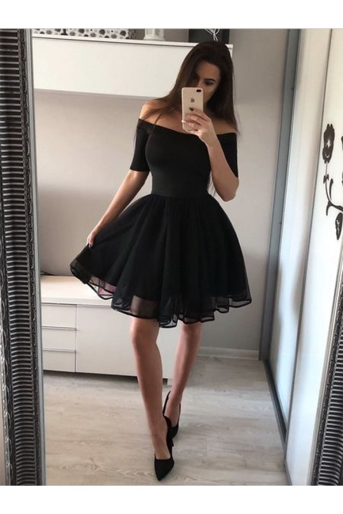 Short Black Prom Dress Homecoming Dresses Graduation Party Dresses 701086
