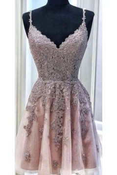 A-Line Lace Short Prom Dress Homecoming Graduation Cocktail Dresses 701102