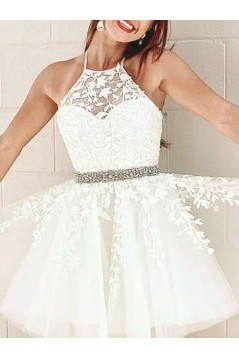 Short Beaded Lace Prom Dress Homecoming Graduation Cocktail Dresses 701119