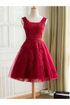 Short Lace Prom Dress Homecoming Graduation Cocktail Dresses 701149