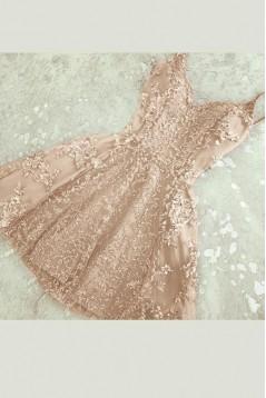 Short/Mini Lace Prom Dress Homecoming Graduation Cocktail Dresses 701155