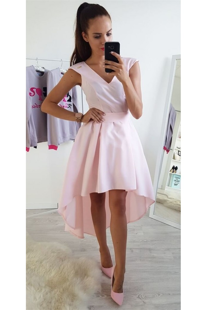 High Low Pink Prom Dress Homecoming Graduation Cocktail Dresses 701158