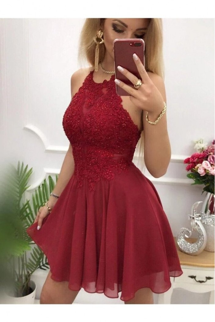 Short Beaded Lace Prom Dress Homecoming Graduation Cocktail Dresses 701161