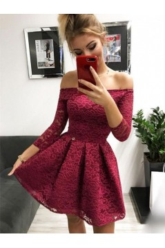 Short Lace Prom Dress Homecoming Graduation Cocktail Dresses 701162