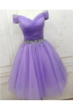 A-Line Beaded Short Prom Dress Homecoming Graduation Cocktail Dresses 701165