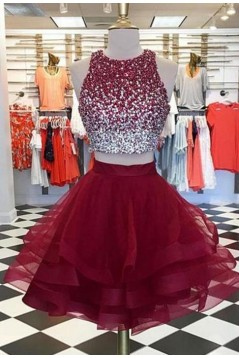 Cute Beaded Short Prom Dress Homecoming Graduation Cocktail Dresses 701166