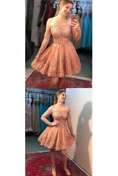 Short Beaded Lace Prom Dress Homecoming Graduation Cocktail Dresses 701175