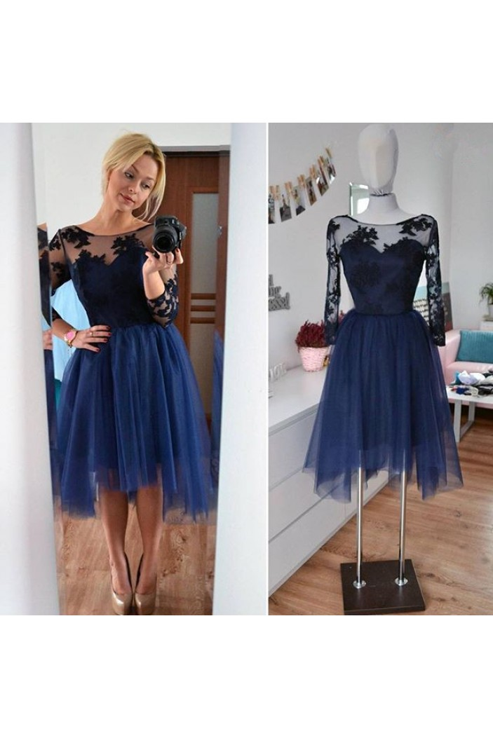 Short Lace Tulle Prom Dress Homecoming Graduation Cocktail Dresses 701189