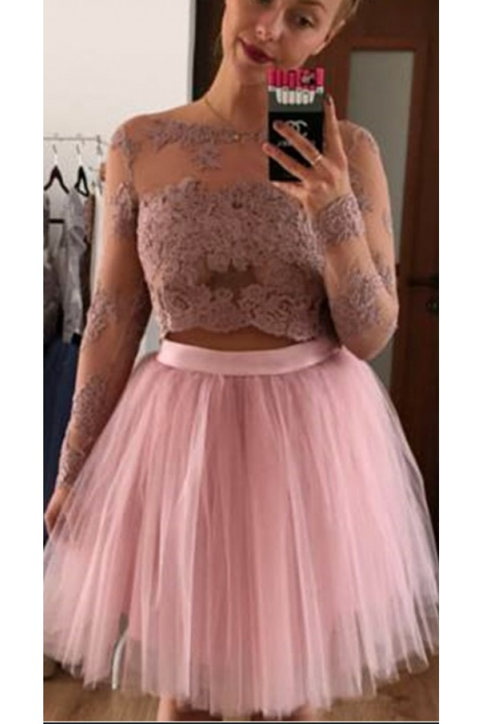 Short Lace Prom Dress Homecoming Graduation Cocktail Dresses 701190