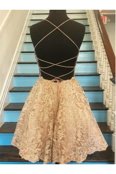 Short Lace Prom Dress Homecoming Graduation Cocktail Dresses 701191