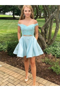 Short Beaded Lace Prom Dress Homecoming Graduation Cocktail Dresses 701193