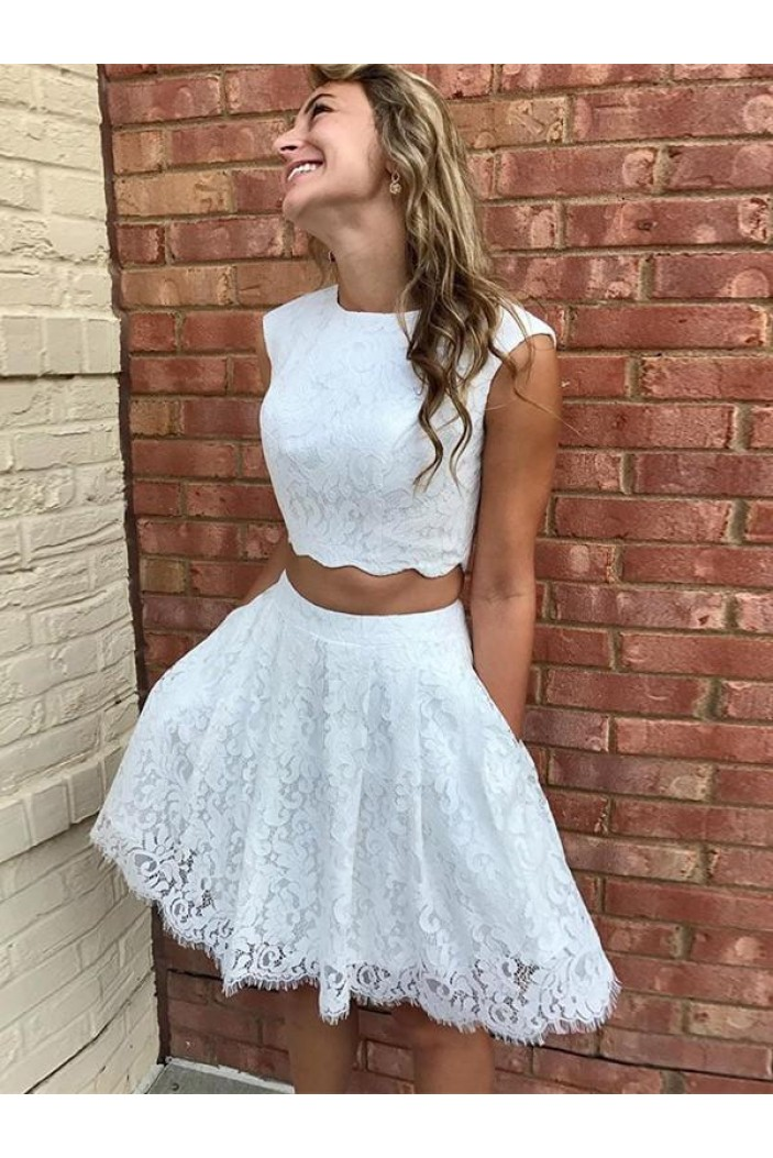 Short White Lace Prom Dress Homecoming Graduation Cocktail Dresses 701205