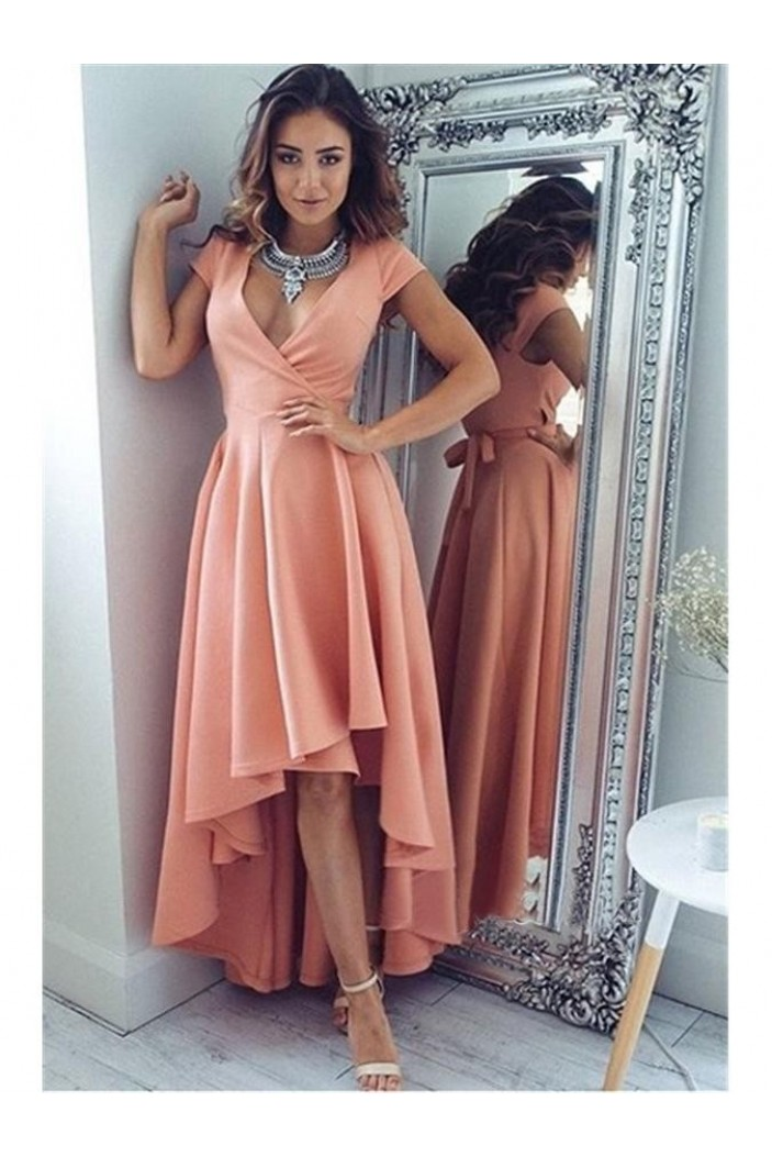High Low Prom Dress Homecoming Graduation Cocktail Dresses 701234